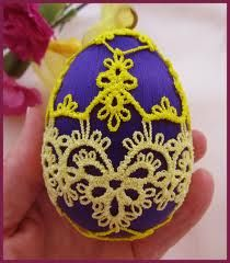 egg pattern tatting - Recherche Google