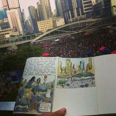 A sketch of Admiralty, 30 Sept 2014, Hong Kong