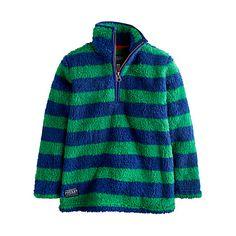 Buy Little Joule Boys' Woozle Striped Fleece, Green/Blue Online at johnlewis.com