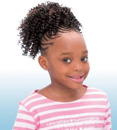 FreeTress for Kids Cork Screw Ponytail Cute Hairstyles For Teens, Lil Girl Hairstyles, Black Girl Braided Hairstyles, Girls Natural Hairstyles, Braided Hairstyles For Black Women, Beautiful Hairstyles, Braid Hairstyles, African Hairstyles, Children Hairstyles