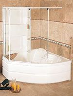 1000 Images About Tub Showers On Pinterest Corner Tub Showers And Corner