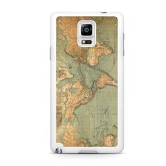 World Map Samsung Galaxy Note 4 Case