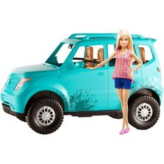Barbie Camping Fun Doll and Teal Off-Road Adventure Vehicle, Blue Camping Car Barbie, Barbie Car, Barbie Toys, Barbie Dream, Barbie Stuff, Barbie Funny, Baby Barbie, Winter Camping Gear, Barbie Playsets
