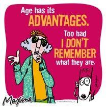 Maxine Age Has Its Advantages
