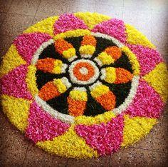 Flower Rangoli, Rangoli Designs, Flower Decorations, Bangles, Contemporary, Blanket, Rugs, Crochet, Board
