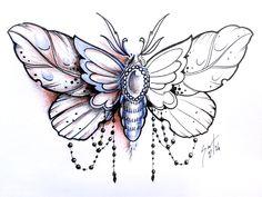 Bff Tattoos, Small Tattoos, Sleeve Tattoos, Tatoos, Skull Tattoo Flowers, Butterfly Name Tattoo, Insect Tattoo, Moth Tattoo, Tattoo Sketches