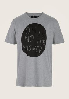 OH NO BERLIN Don't Ask greymottled, Printed T-Shirts,