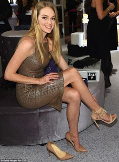 Al Bundy's dream girl: The Married With Children character would have loved to help model Lindsay Ellingson find some appropriate shoes