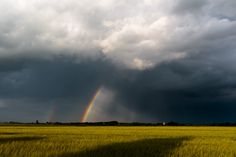 Stormy Ranbow Skies, Thruleigh Village Bedfordshire, Photography, images…