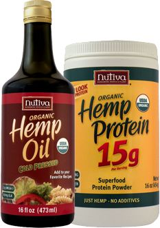 Brand: Nutiva Products: Protein Powder - $18.99 Organic Hemp Oil - $14.99   These products contain essential and nutritious fatty acids to improve health