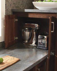Diamond Lowes   Organization Cabinets > Wall Appliance Garage Door