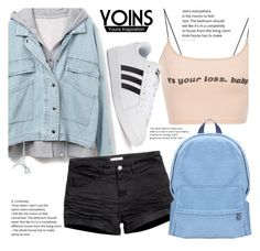 """""""Teen Style With Yoins"""" by fattie-zara ❤ liked on Polyvore featuring adidas, yoins, yoinscollection and loveyoins"""