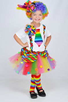 Girls Circus Carnival Clown Tutu by HaydiePotateeBoutq on Etsy, $72.00