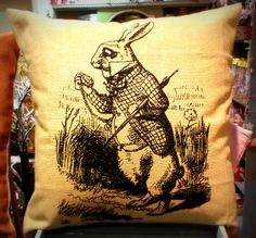 Gorgeous Alice in Wonderland Cushion from Rua Dublin Dublin, Alice In Wonderland, Cushions, Throw Pillows, Toss Pillows, Toss Pillows, Pillows, Decorative Pillows, Pillow Forms
