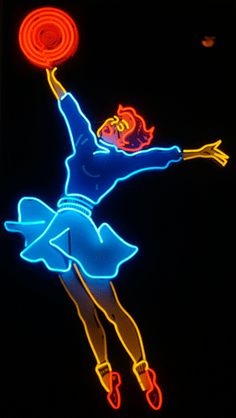 When Colony Music closed, the neon jumping girl was removed. Photo by Hively.