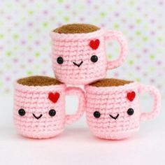 Cute Pink Gifts For Valentine's Day - Super Cute Kawaii! - Cute Pink Gifts For Valentine's Day – Super Cute Kawaii! Kawaii Crochet, Crochet Food, Cute Crochet, Crochet Dolls, Crochet Christmas Gifts, Crochet Gifts, Amigurumi Patterns, Crochet Patterns, Pink Gifts