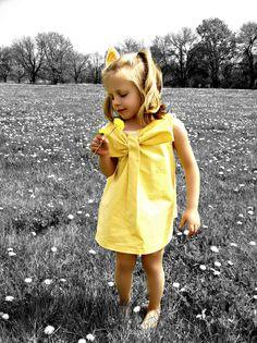 Little Girls Bow dress from man's button down shirt