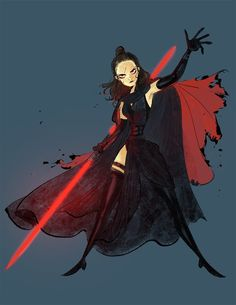 This is probably the best dark side Rey art I've seen! good job and all credit to the artist x Rey Star Wars, Star Wars Fan Art, Rey Dark Side, Sith Costume, Rey Cosplay, Kylo Rey, The Force Is Strong, Star Wars Characters, Cosplay Characters