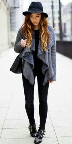 Grey Drape Jacket