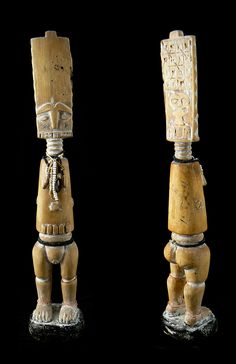 Africa | Doll from the Fante people | Wood and glass beads