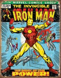 Iron Man - Cover | Comic Book and Super Heroes Signs | Tin Signs | Wall Decor | Pictures | Art | Pictures Frames and More | Winnipeg | Manitoba | MB | Canada