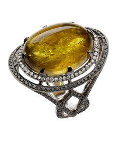 La bague en tourmaline jaune et diamants d'Emerald House