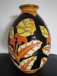 Grand vase ovoïde ART DECO KERAMIS de Charles Catteau