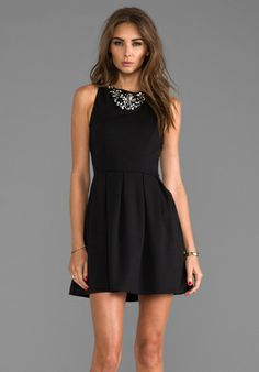 Eight Sixty Embellished Dress in Black