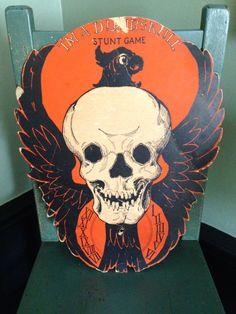 "Antique Halloween Beistle ""I'm a Dumbskull"" Stunt Halloween Game 1930s Vintage Halloween Decor Collectible"