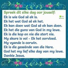 Afrikaans, God, Quotes, Inspiration, Dios, Qoutes, Biblical Inspiration, Quotations, Afrikaans Language