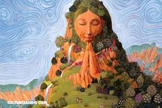 Mother Nature ~ Gaia ~ Aphrodite ~ Shekinah ~ Sophia ~ Mary ~ Hsi Wang Mu ~ Divine Feminine Energy ~ Higher Self The Sacred Feminine is the energy within each of us and throughout the universe that serves life itself. Hers are the qualities of unconditi Art Et Nature, Goddess Art, Earth Goddess, Goddess Symbols, Moon Goddess, Sacred Feminine, Feminine Energy, Nature Illustration, Deities