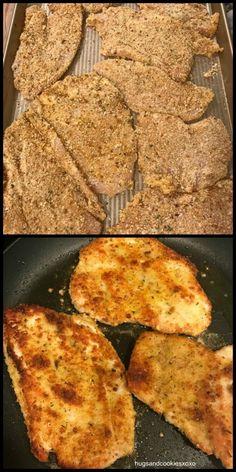 Make-Ahead Chicken Cutlets - Art Design Meat Recipes, Chicken Recipes, Cooking Recipes, Turkey Recipes, Thin Chicken Cutlet Recipes, Recipies, Delicious Recipes, Dinner Recipes, Tasty