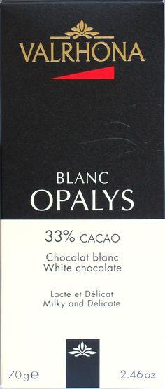 Chclt.net-Geschmackstest der hellweißen Schokoladensorte 'Blanc Opalys' des französischen Premiumherstellers Valrhona.
