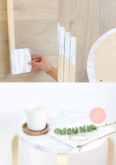Ikea Easy Hack Create A Nice Marble Table With An Stool Check Out