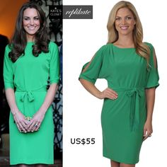 Kate Middleton Style. DVF Maja dress repliKate