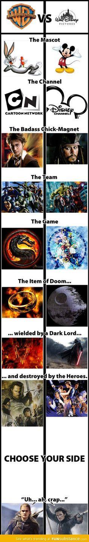 Warner Bros vs Disney