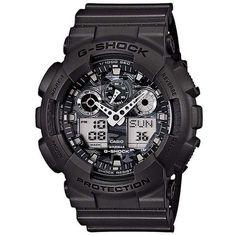 Casio G-Shock GA-100CF-8AER Men's Analog-Digital Watch-Black #men #watch #fashion #style