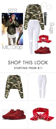 """BTS Min yoongi inspired outfit"" by melaniecrybabyz ❤ liked on Polyvore featuring NIKE, Pyle and Miss Selfridge"