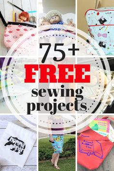 Great library of over 75 simple and beginner friendly sewing projects for everyday and holidays like Valentine's, 4th of July, Halloween, and Christmas. #sewing #sewingprojects