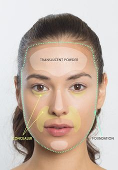 First up: foundation, concealer, and translucent powder. | Here's How To Do Your…
