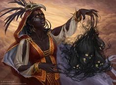 Dark witch by KateMaxpaint.deviantart.com on @deviantART