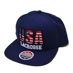 #LacrosseUnlimited #USA Zephyr Block Lacrosse Snapback Hat. #hat #snapback