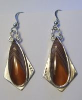 Agat earrings by GeshaR