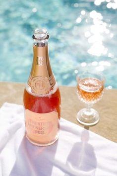 rosé, poolside.