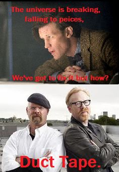 Mythbusters + Doctor Who.......... No way im not pinning this!