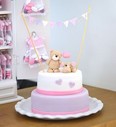 gâteau oursons bapteme fille