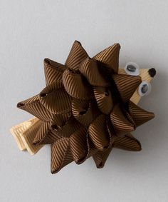 Take a look at this Brown Hedgehog Clip by Loopy Loos on #zulily today!