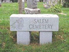 Salem Cemetery is supposedly haunted by the ghost of Louiza Catharine Fox, the first person murdered in Kirkwood Township. She is buried at Salem Cemetery, her gravestone is located at the bottom of the hill in the older section of the cemetery near a creepy old tree.