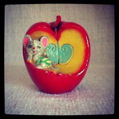 Vintage Apple & Mouse Bank