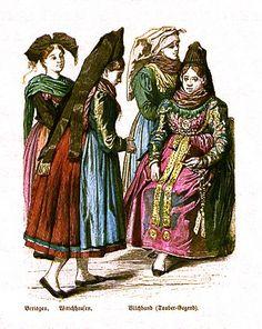 Plate #98b - Late Nineteenth Century - German Folk Dress (Former Grand-Duchy of Baden)